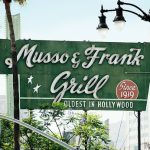 The sign for the Musso and Frank Grill on Hollywood Blvd (via lumierefl on Flickr)