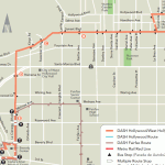 Route map for the DASH Hollywood/West Hollywood route that seems to be slated for elimination.