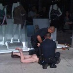 Man without pants on Robertson taken into custody by LAPD (photo: Tony Shoulders)
