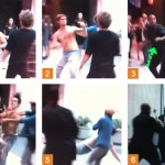 Images from fight captured on video by TMZ near Soho House