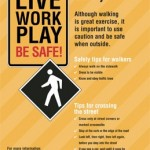 City of West Hollywood Pedestrian Safety Poster