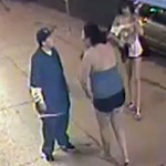 Security camera footage of individuals involved in an attack on a trans woman near Melrose and La Brea