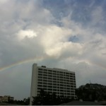 Rainbow over the Sunset Strip and Mondrian (photo: Weho Daily)