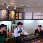 Counter area of the Starbucks near West Knoll after remodel.
