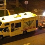 Chanukah truck spotted on Fountain Ave.