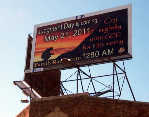 judgment day may 21 billboard. Judgment Day billboard in West