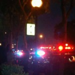 Emergency vehicles at the scene of a reported stabbing on Santa Monica Blvd. (Photo: David White for Weho Daily)