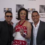 Michael Valles, CEO of Interior Illusions / Tammie Brown, RuPaul's Drag Race Season 1 contestant, / Dougrey Von Neuenschwander, Director of Marketing at Interior Illusions