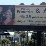 Billboard erected on the Sunset Strip for the anniversary of Prince von Anhalt and Zsa Zsa Gabor (Photo: TMZ.com)