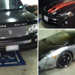 Photos allegedly showing cars associated with Chris Brown parked illegally in disabled spots. (Photos: TMZ - click for gallery)