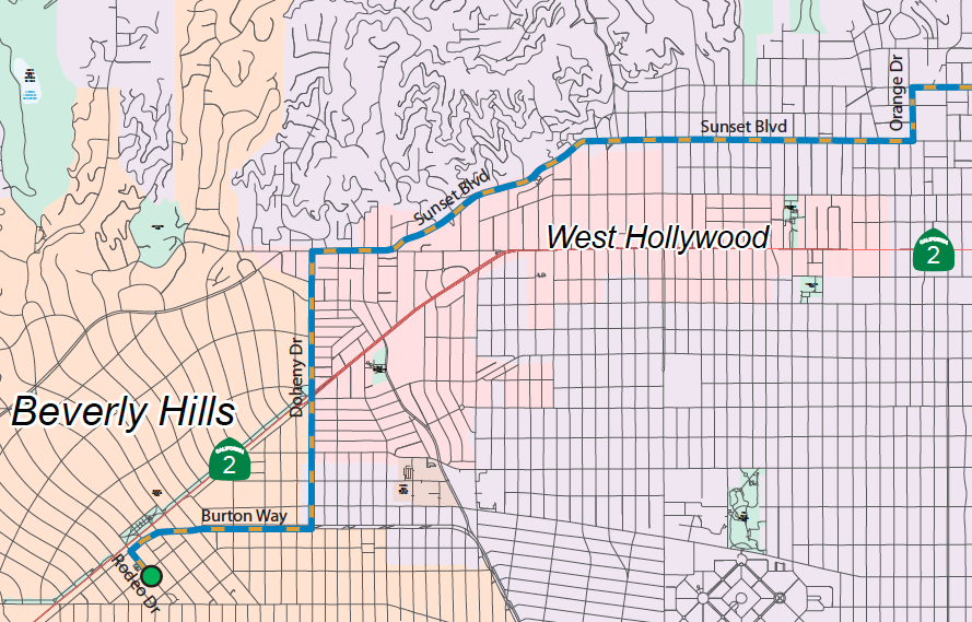 Course for the Amgen Race through Weho and Beverly Hills