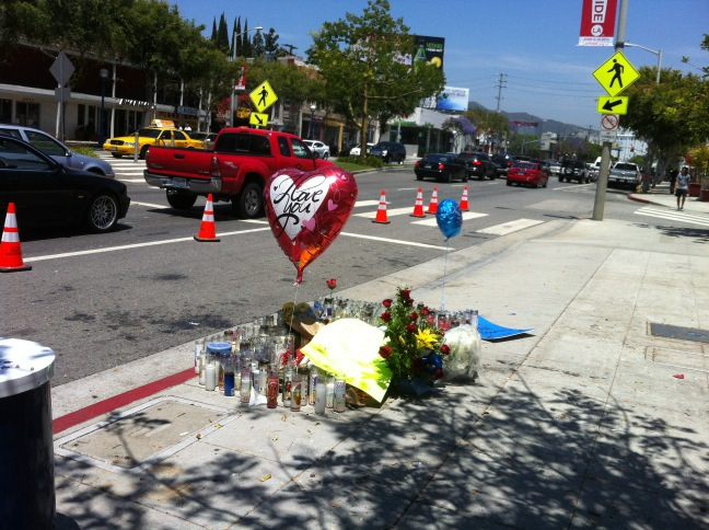 Memorial on Santa Monica Blvd for Alan Thomas (Photo credit: David Faustino)