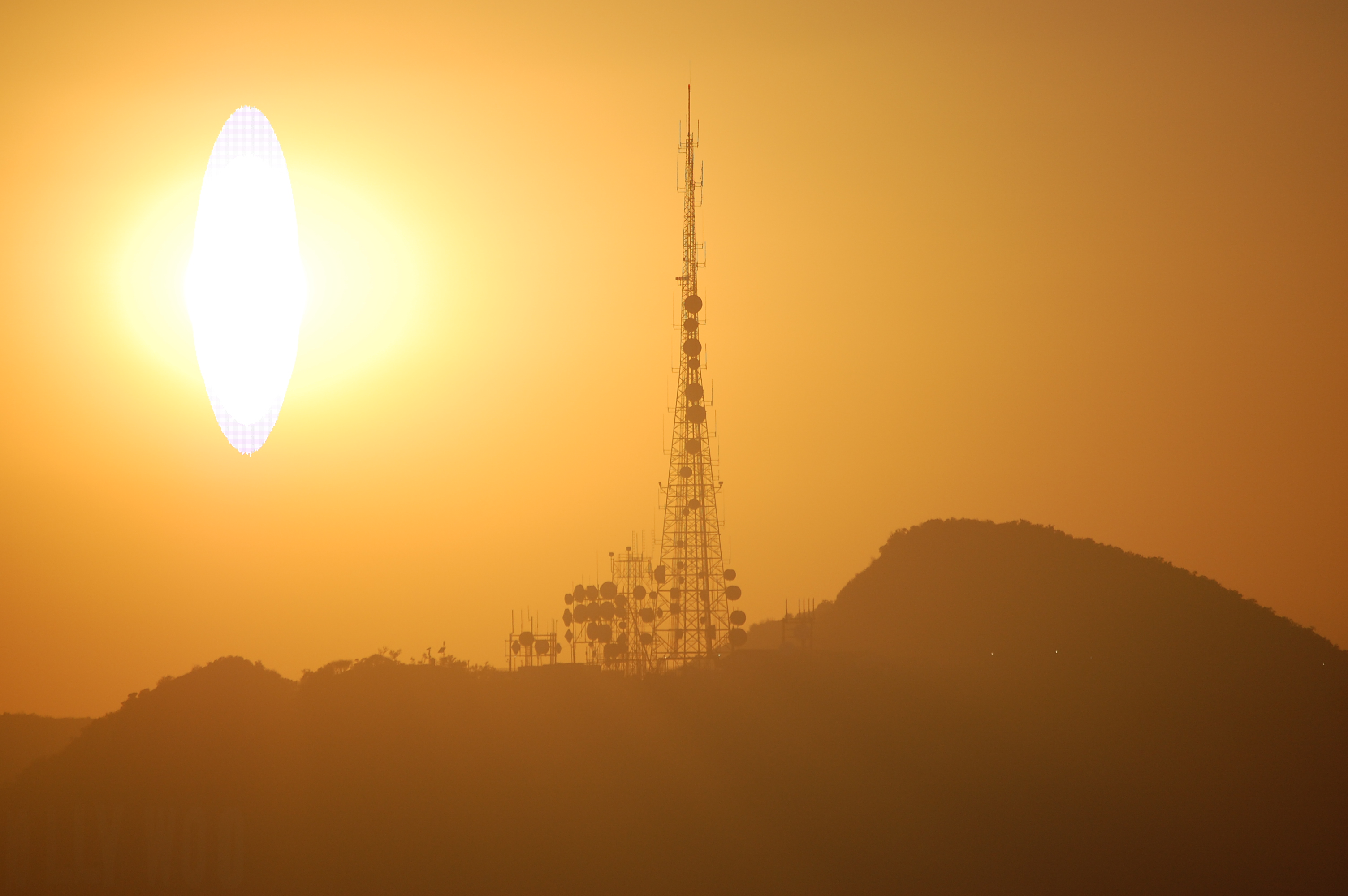 Sun over the Hollywood Hills