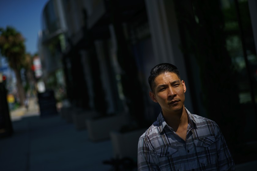 Steven Chung, a former employee at a Korean barbecue restaurant, helped organize workers to report labor violations. (LA Times)