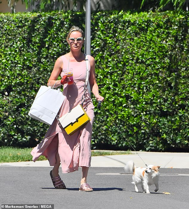 Brie Larson steps out with her dogs in West Hollywood... weeks after PDA session with new beau Elijah Allan-Blitz