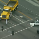 Dump truck chase ends in multi-vehicle crash in Alhambra; suspect taken into custody