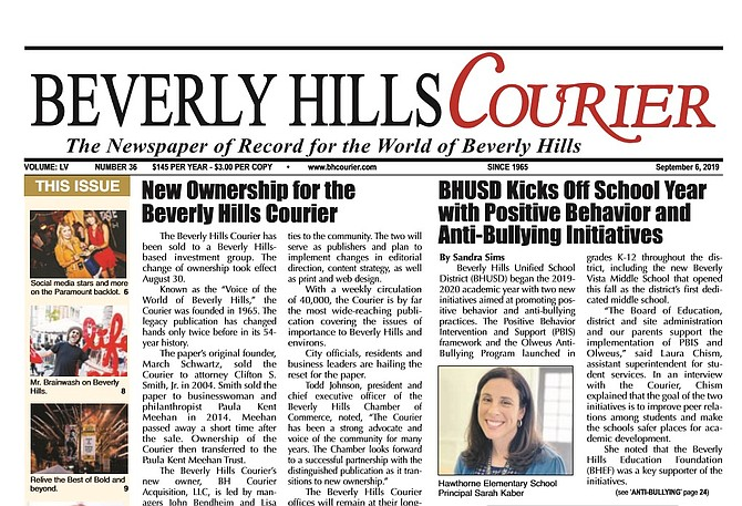 Investment Group Buys Beverly Hills Courier from Meehan Trust