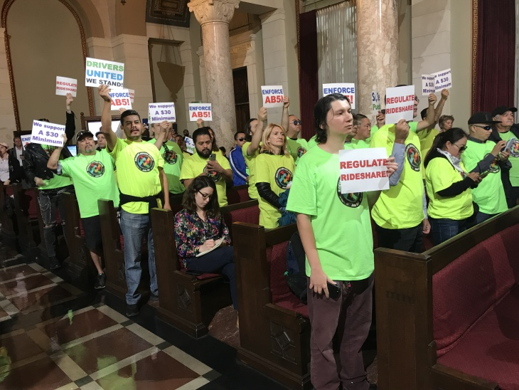 LA City Council Proposes $30/Hr. Minimum For Uber And Lyft Drivers