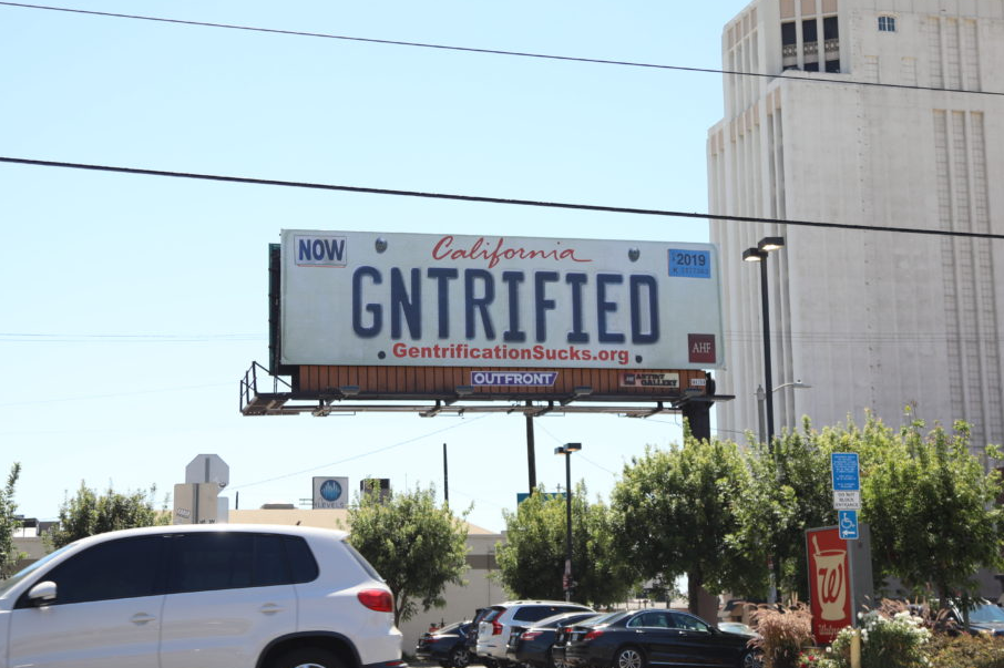AHF Gentrified Billboard in Los Angeles