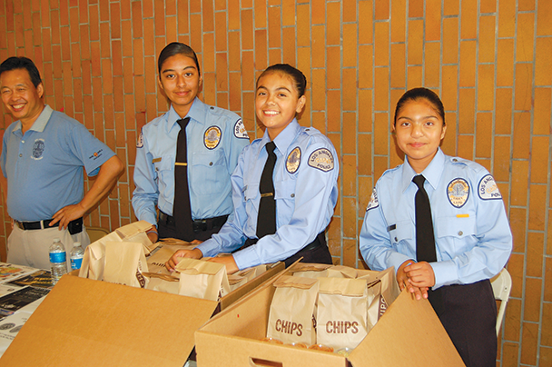 Caruso helps police cadets stay 'Bound for Blue'