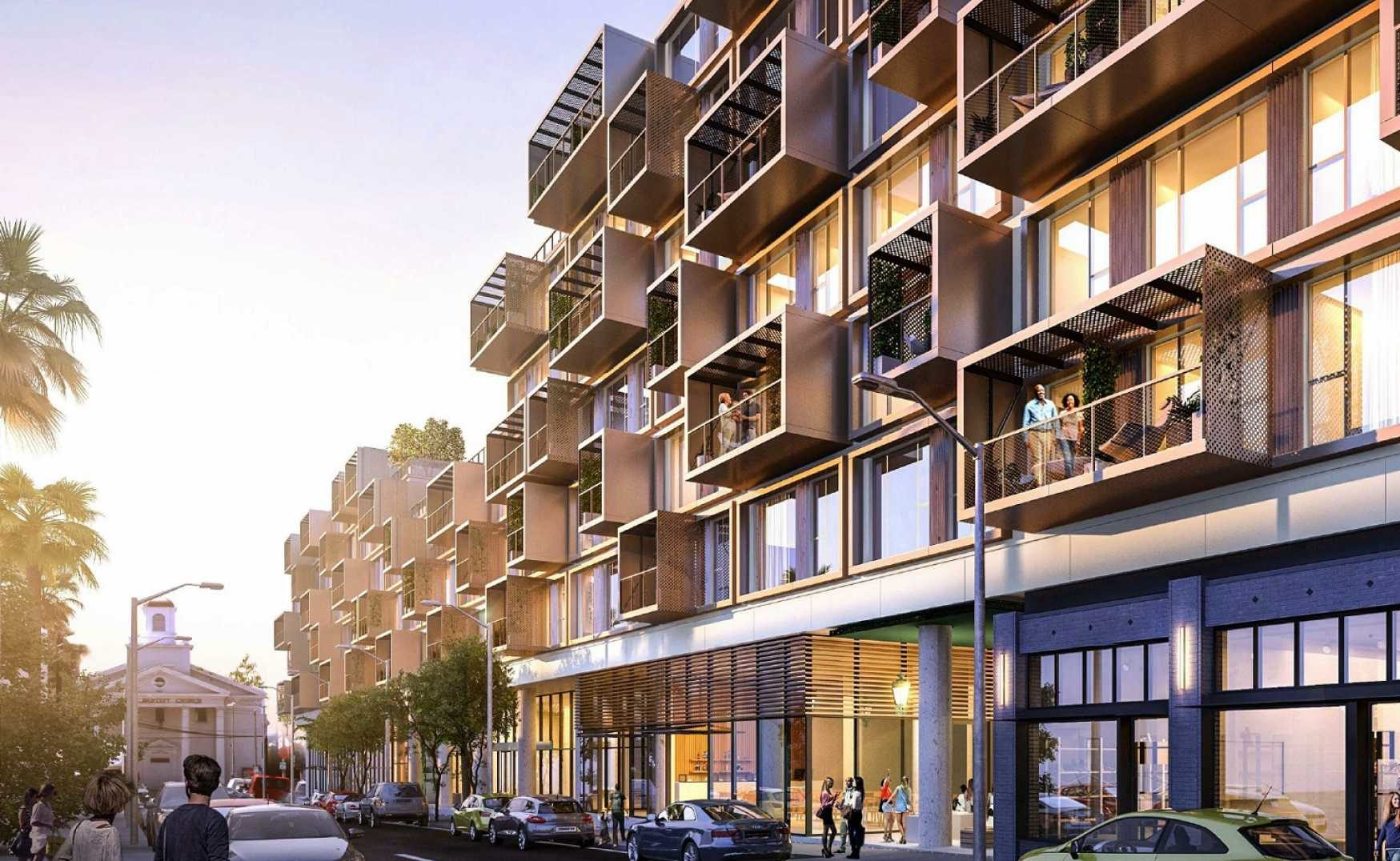 Renderings Revealed for Modular Mixed-Use Complex in Hollywood