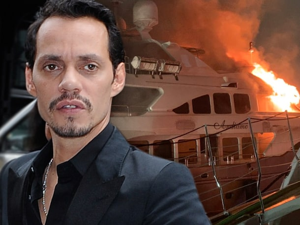 Marc Anthony's Luxury Yacht Catches Fire, Capsizes in Miami