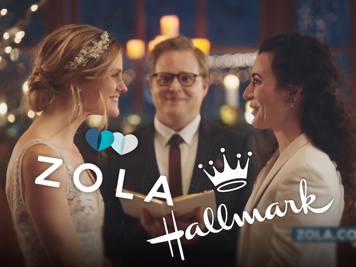 Hallmark Changes Mind on Zola Ads Featuring Same-Sex Couple Kissing