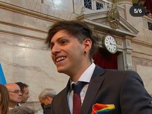 Out son of new Argentinian president represents with Pride Flag at father's inauguration