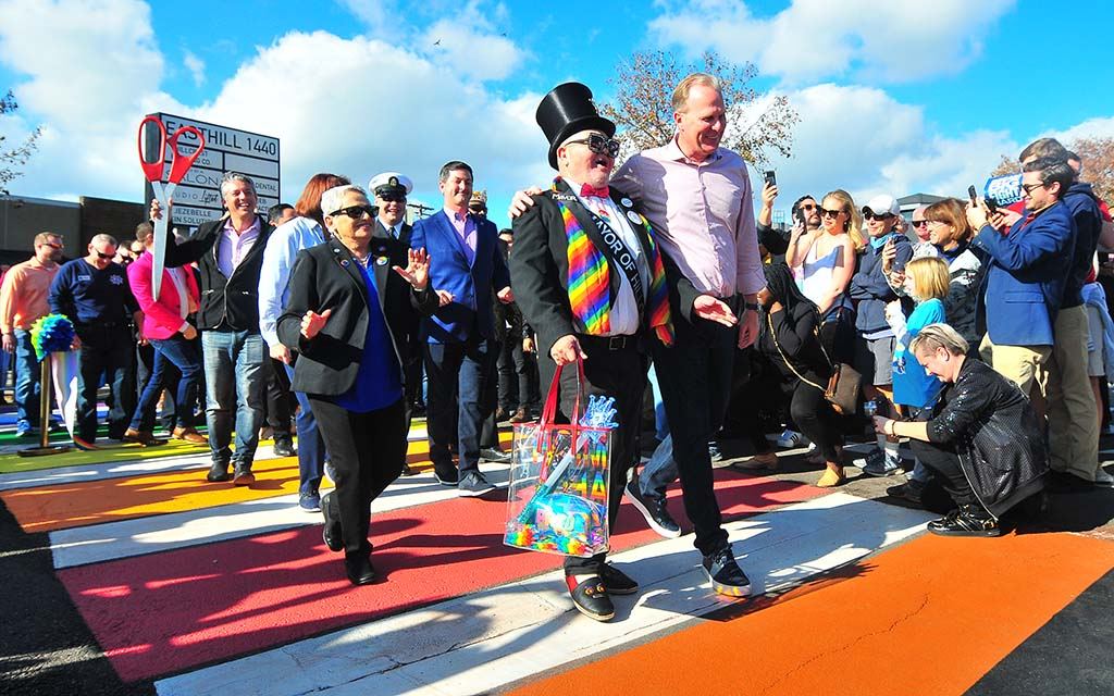 True Colors in Hillcrest: First Special Crosswalk Has Rainbow Connection