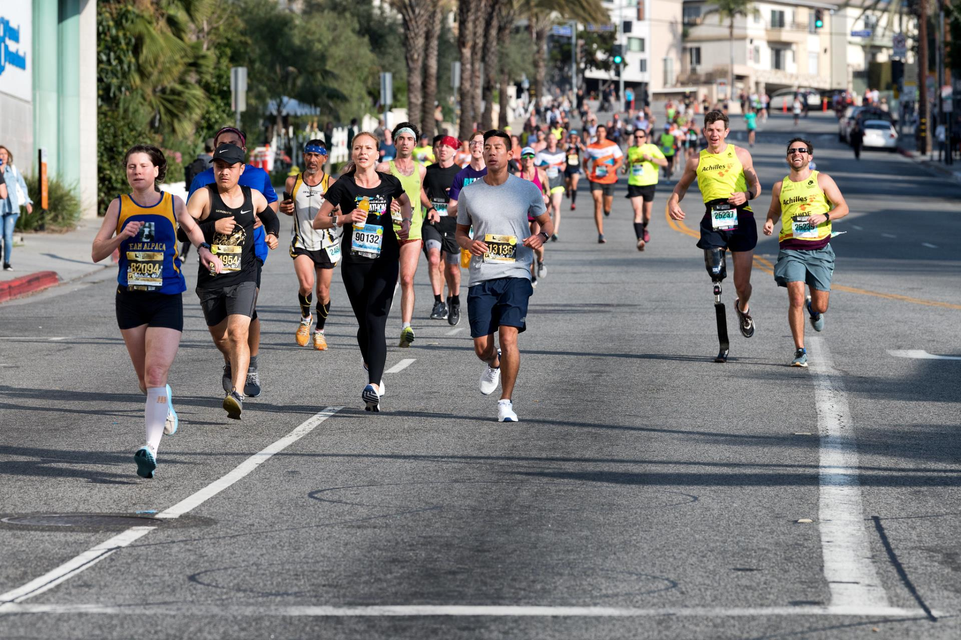 Weho Welcomes Runners In The 35th Annual L A Marathon
